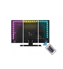 Kit Strip Led Retroschermo Tv Rgb Con Usb E Telecomando