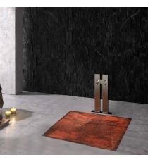 Piatto Doccia Stone 3d Ossido Quadrato Marmoresina Slim Riducibile Con Piletta Spessore 3cm.