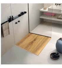 Piatto Doccia Stone 3d Quercia Quadrato Marmoresina Slim Riducibile Con Piletta Spessore 3cm.