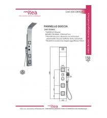 Pannello Doccia Tre Funzioni Selezionabili Serie Otranto H155cm