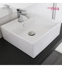 Lavabo Modello La40 46.5x46.5x13.5 Da Appoggio In Ceramica