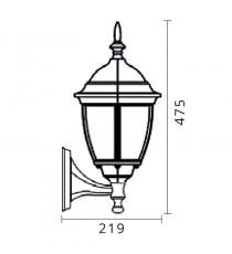 Lanterna Mod. Demetra Down Nero