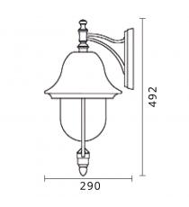 Lanterna Mod. Calliope Up Colore Rame
