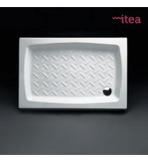 Piatto Doccia 80x140 Rettangolare Ceramica Bianco Spessore 10 Cm.