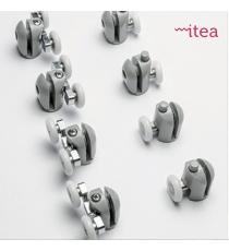 Box Doccia Mod. Silny L70xp100xh185 Angolare Scorrevole Cristallo 6mm Satinato Profilo In Alluminio Cromato